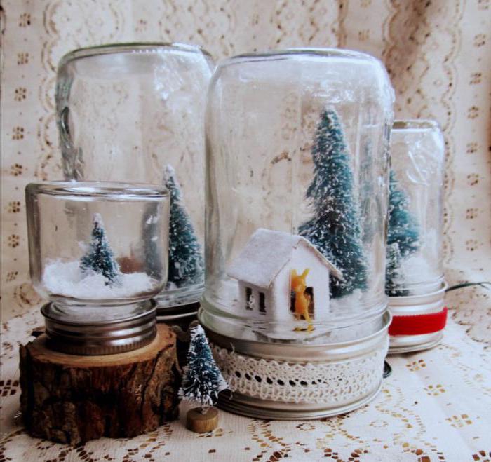 Снег в банке-композиция