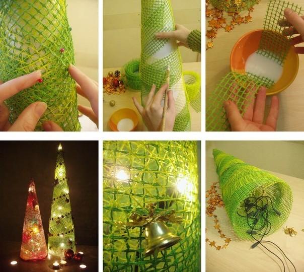Светящаяся елка-своими руками