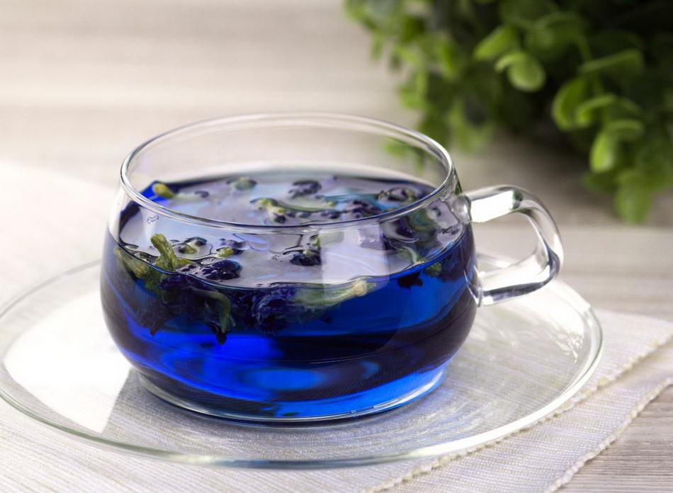 Тайский синий чай-фото