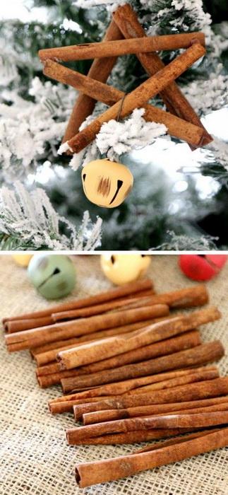 Звезды из коричных палочек-новогодний креатив