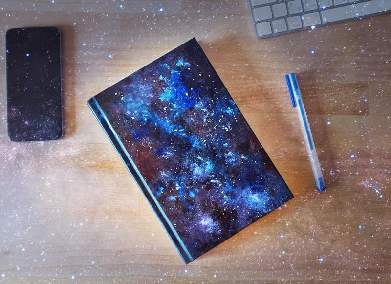 Декор блокнота-Вселенная
