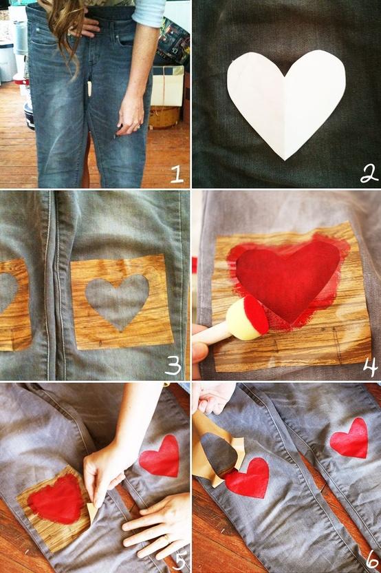 Декорирование джинсов принтами-идеи и креатив