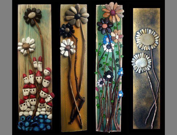 Деревья и цветы из морских камней-идеи и креатив
