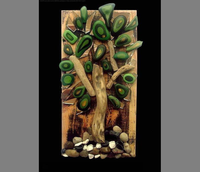 Деревья из морских камней-идеи и креатив фото 2