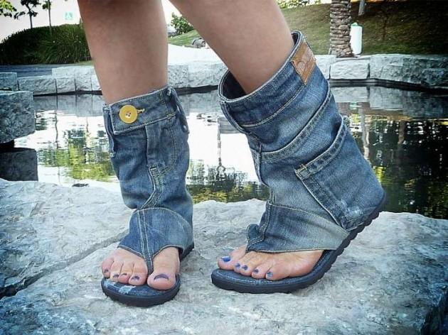 Джинсовая обувь-фото