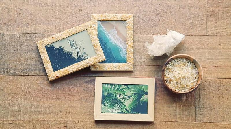Фоторамка из камней-идеи и креатив