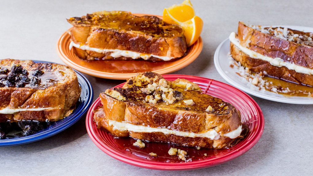 Французский сливочный тост-подача