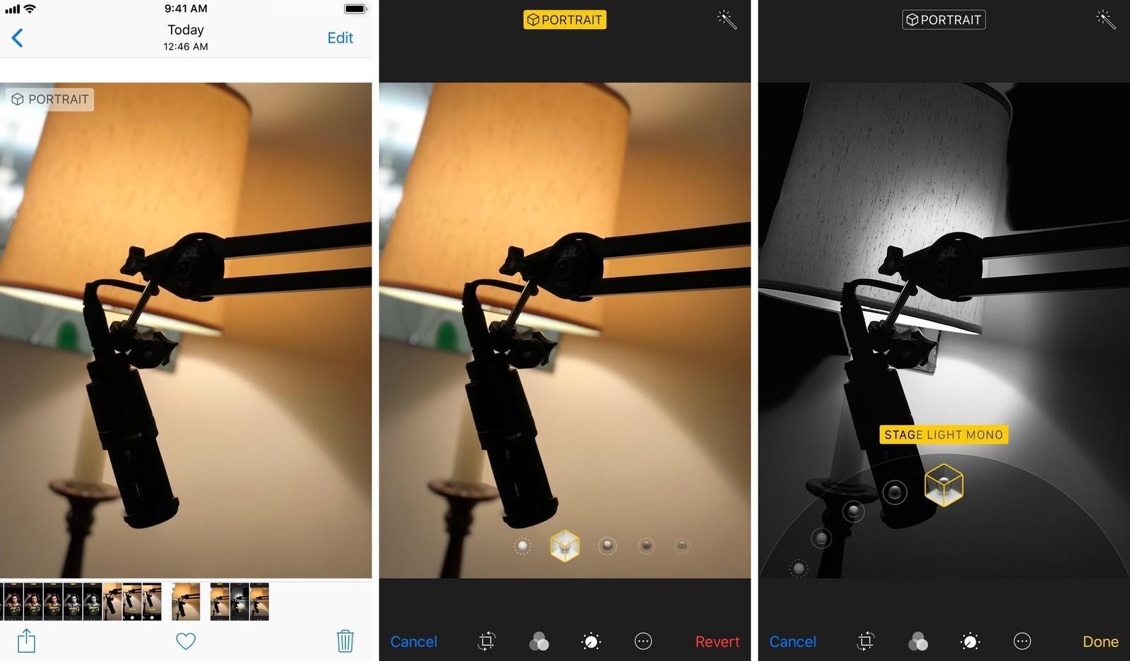 Как использовать портретный режим и портретное освещение в iPhone X - удаление эффекта глубины