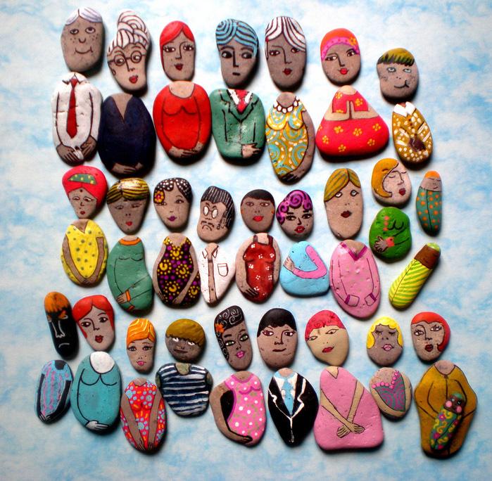 Каменные человечки-идеи и креатив