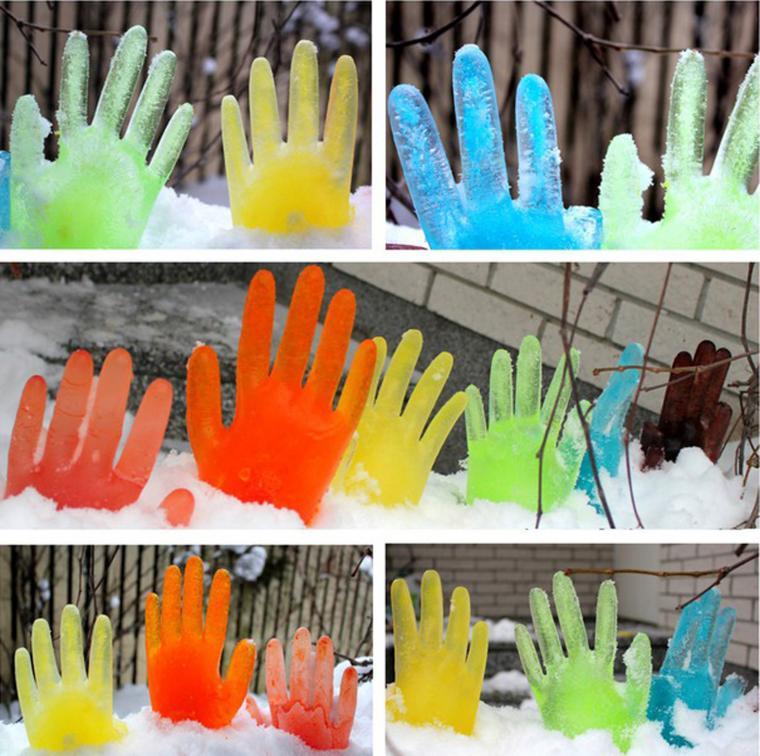 Ледяные руки-как украсить двор