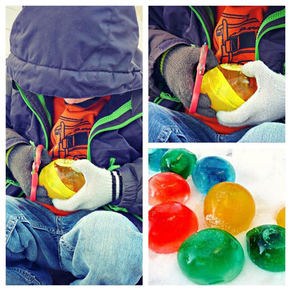 Ледяные шары своими руками-зимний досуг