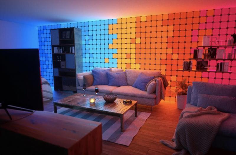Nanoleaf на CES-2018-модульная светящаяся стена фото 1