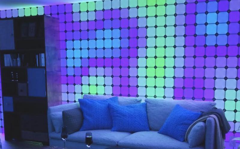 Nanoleaf на CES-2018-модульная светящаяся стена фото 2