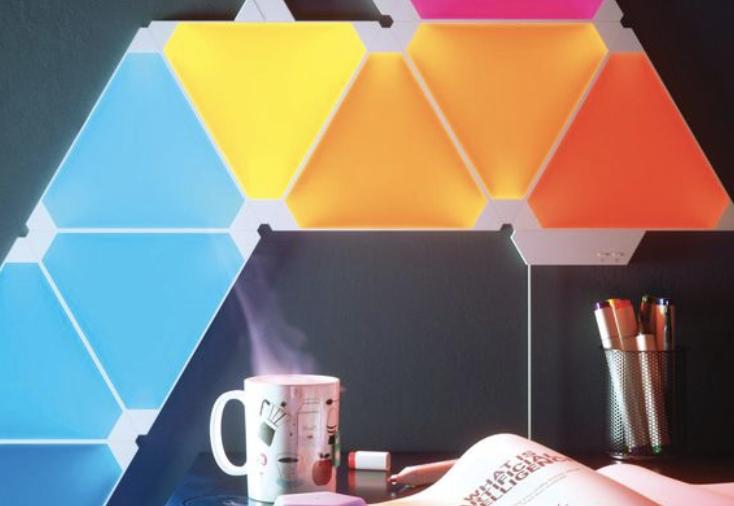 Nanoleaf на CES-2018-модульная светящаяся стена фото 3