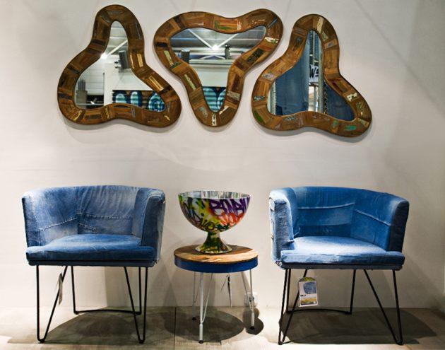 Обивка мебели-из джинсов