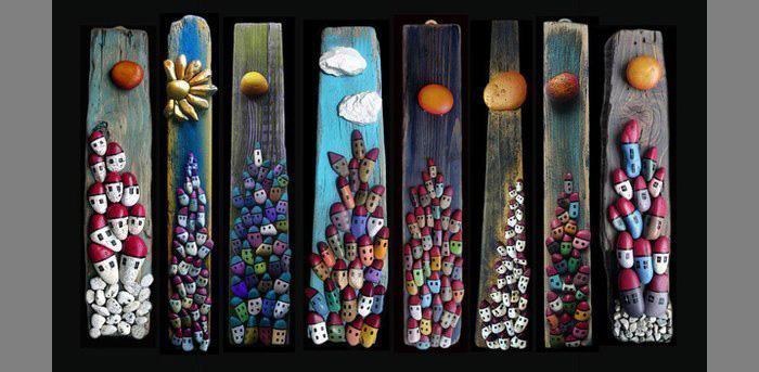 Панно из камней-идеи и креатив