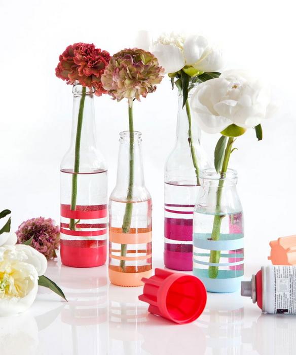 Полосатые вазы-как сделать фото 4