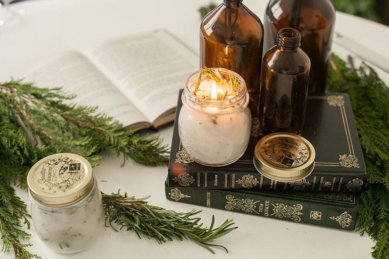 Розмариновая свеча своими руками-фото