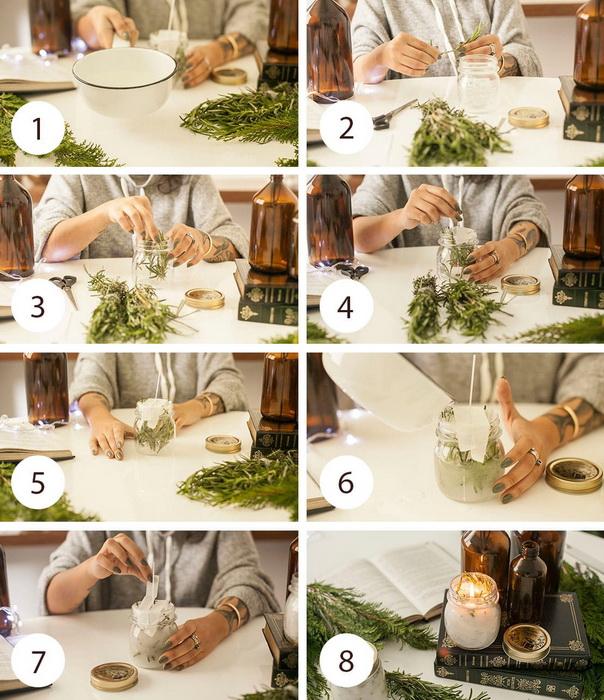 Розмариновая свеча своими руками-как сделать мастер-класс