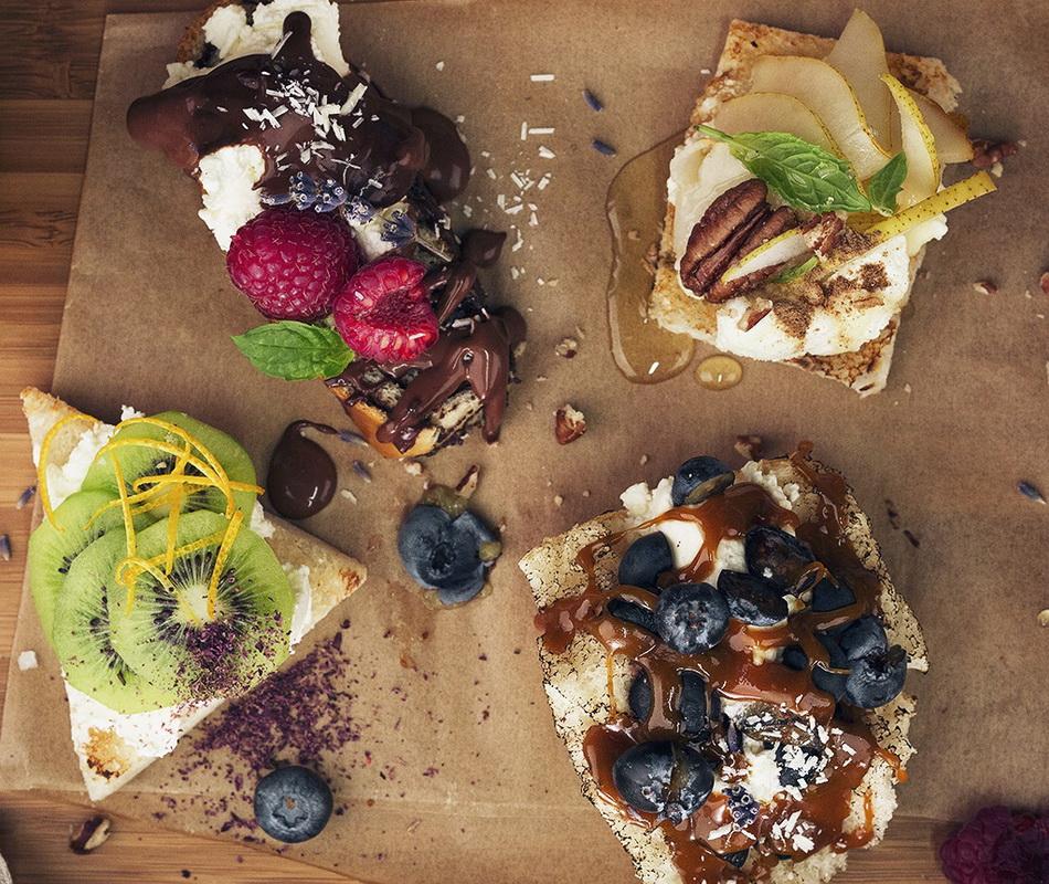 Сливочный творожный сыр-и фрукты