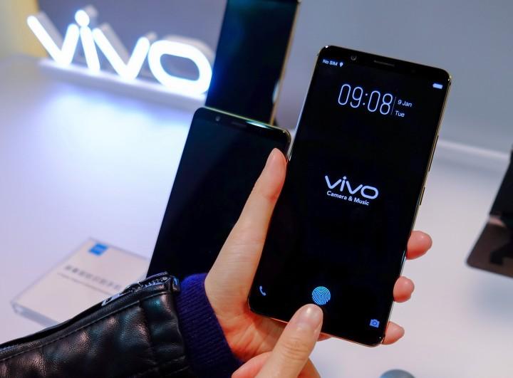 Смартфон Vivo-со встроенным в экран сканером отпечатков пальцев