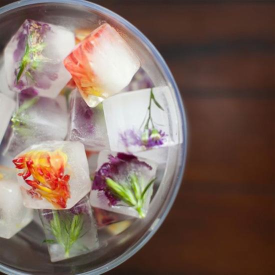 Цветочные кубики льда-ледяной креатив