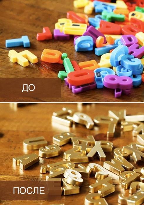 Золотые буквы-фото