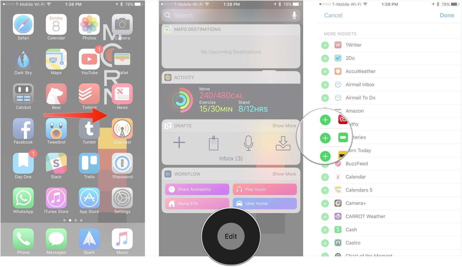 11 вещей которые должен знать каждый пользователь iPhone или iPad - добавляем виджеты