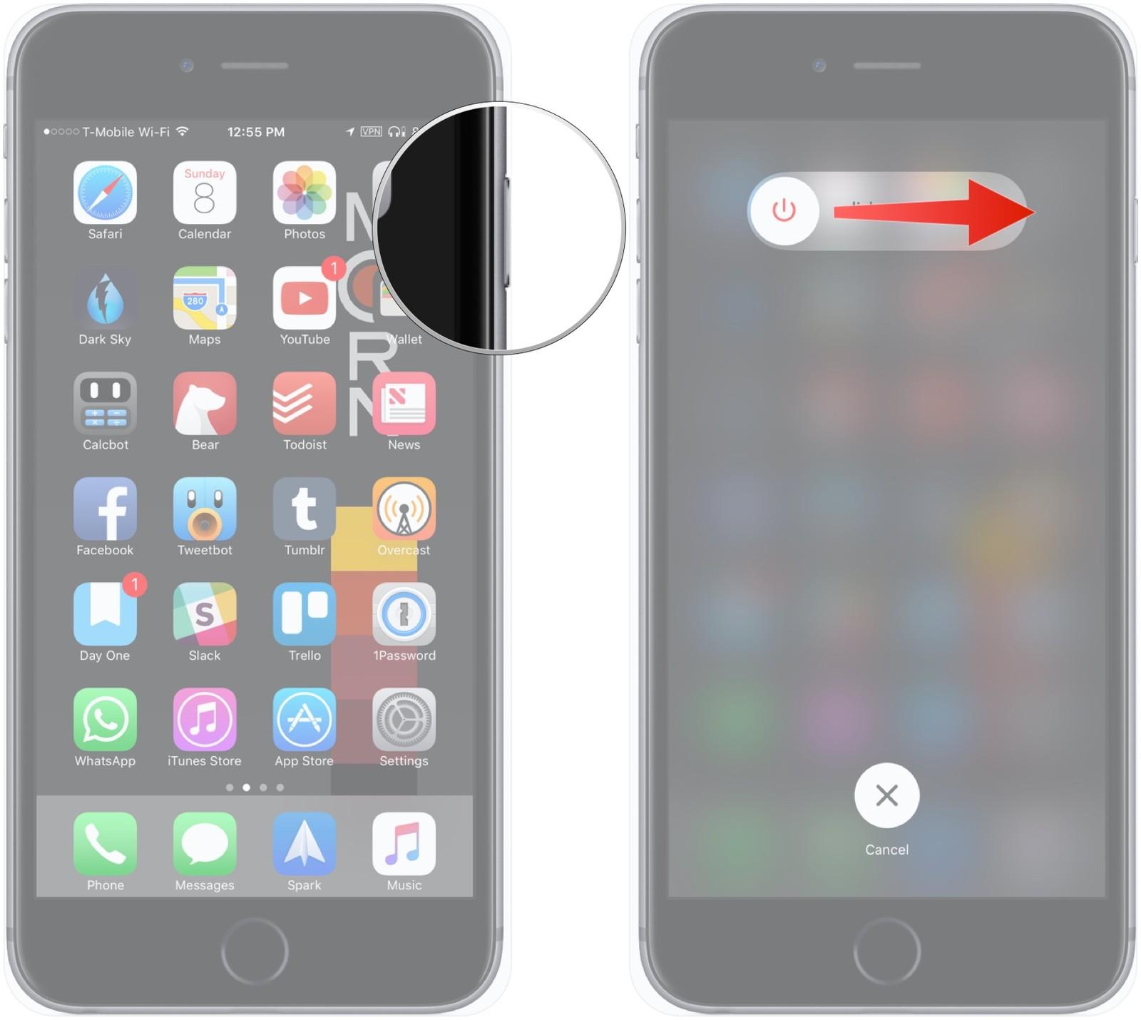 11 вещей которые должен знать каждый пользователь iPhone или iPad - выключаем смартфон