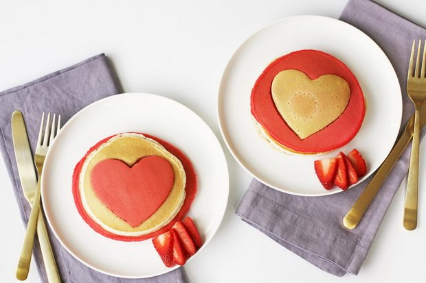 День святого Валентина-оригинальные блины