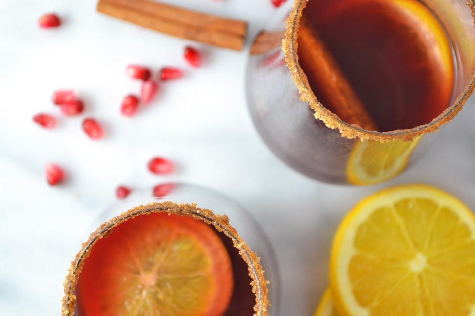 Глинтвейн-как украсить бокал сахарная кромка