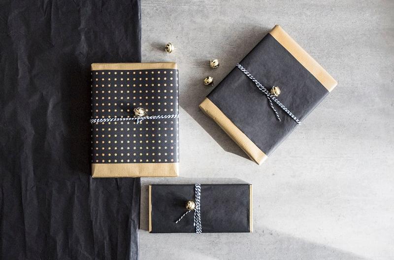 Искусство упаковки подарков-идея 2 черно-золотая упаковка