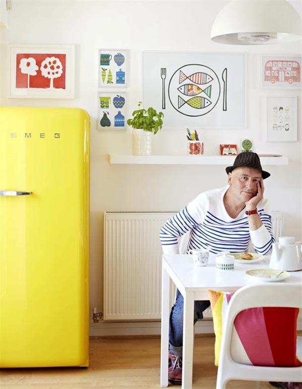 Как правильно установить холодильник - интерьер кухни