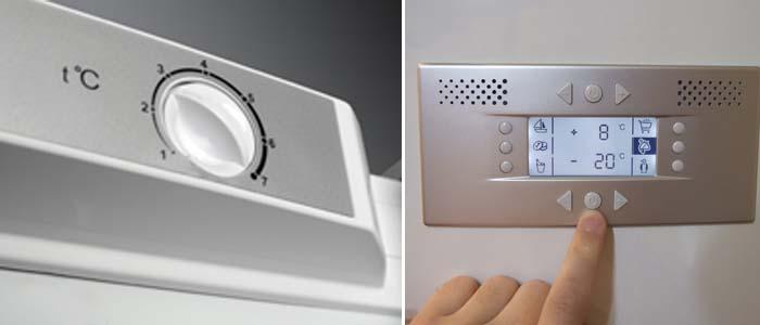 Как правильно установить холодильник - типы управления холодильника
