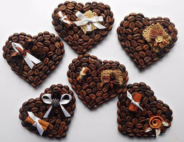 Кофейные валентинки-идеи
