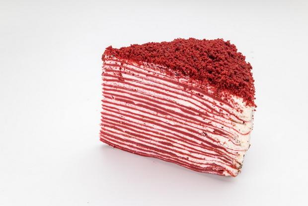 Красный бархат-блинный торт