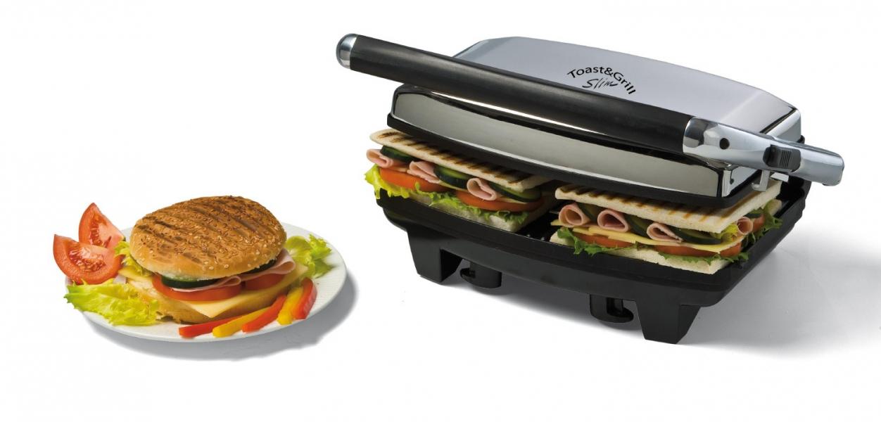 Новый тренд кухонной техники_лучшие электрические грили-барбекю для квартиры - гриль ariete готовит бутерброд