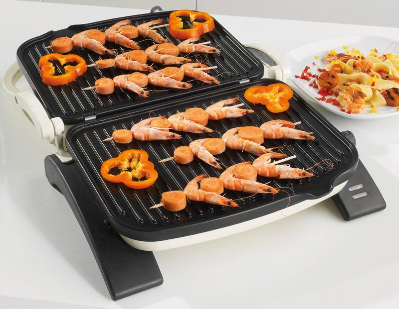Новый тренд кухонной техники_лучшие электрические грили-барбекю для квартиры - гриль gorenje морепродукты