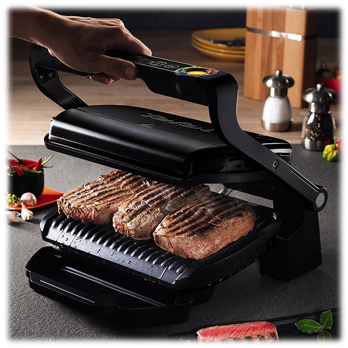 Новый тренд кухонной техники_лучшие электрические грили-барбекю для квартиры - гриль tefal Гтовит мясо