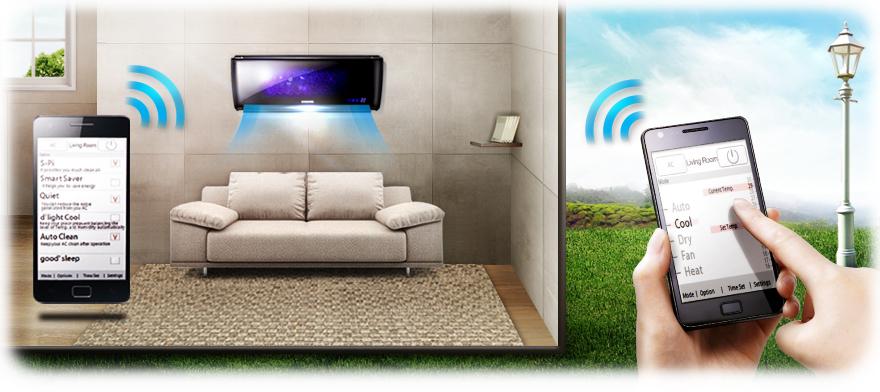 Обзор новых кондиционеров Samsung с инновационной технологией Wind Free - кондиционер Samsung smart home