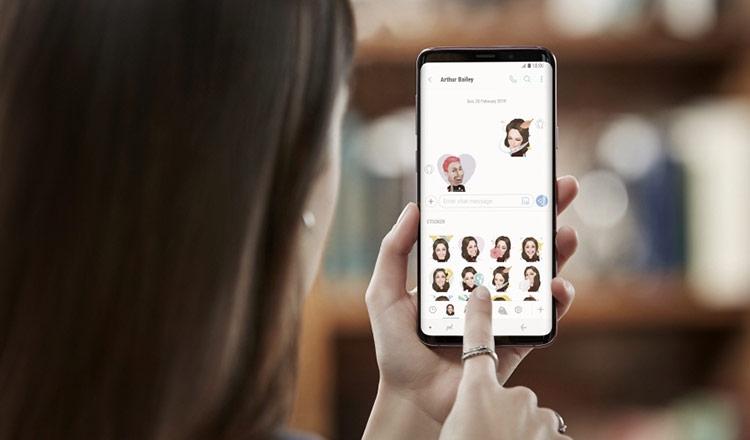 Samsung Galaxy S9 и S9 Plus-AR Emoji GIF-файлы