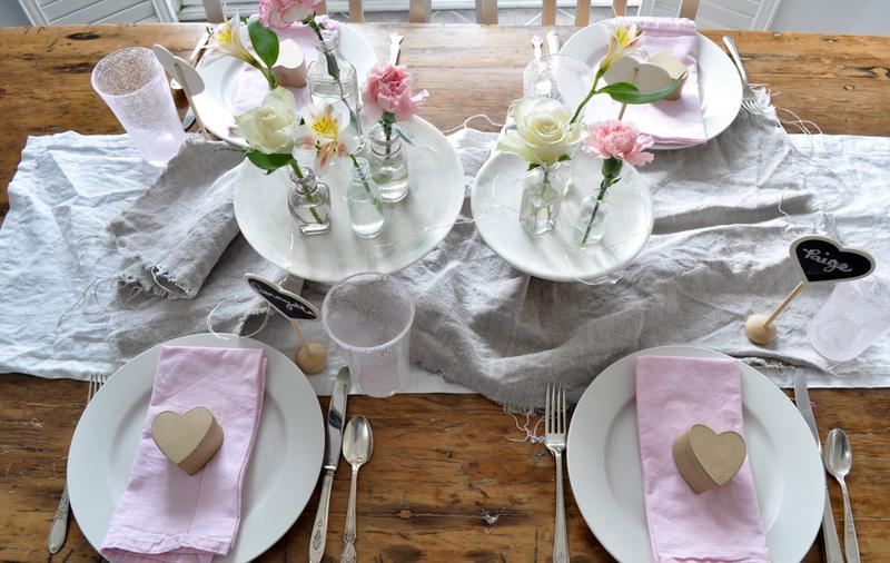 Сервировка стола-День святого Валентина