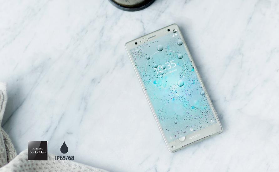 Sony Xperia XZ2-защита от влаги