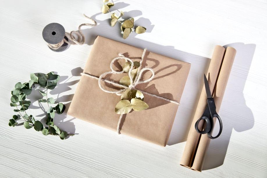 Упаковка с крафтовой бумагой-идеи и креатив