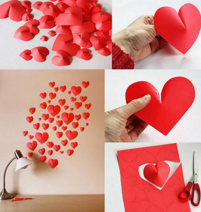 Валентинка на стене-идея