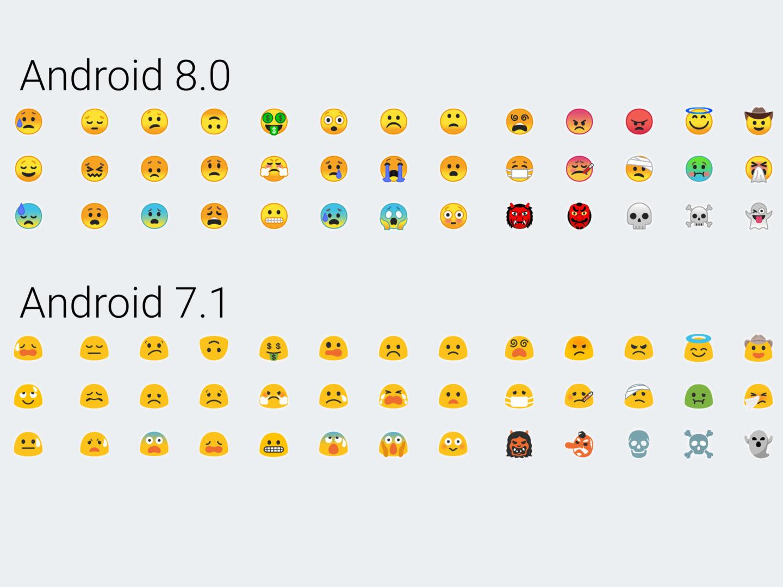 15 изменений и улучшений Android 8 Oreo - новые эмоджи