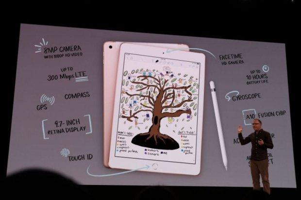 Apple iPad 9.7 (2018) с поддержкой Pencil-фото с мероприятия 2