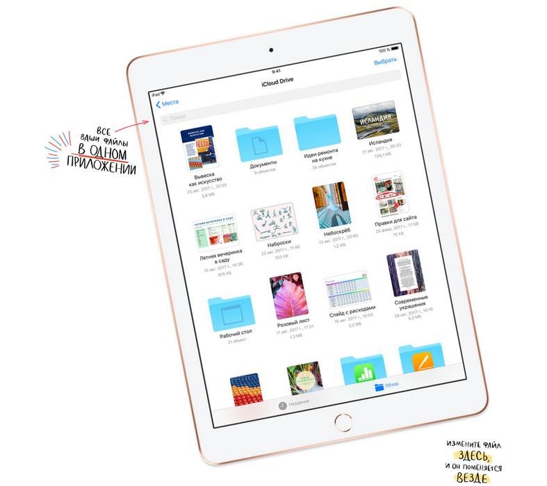 Apple iPad 9.7 (2018)-все приложения в одном месте