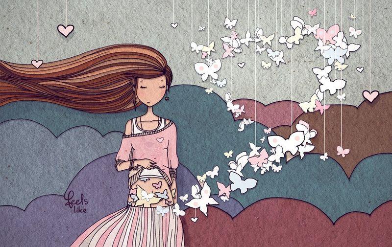 Бабочки в животе-влюбленность или любовь
