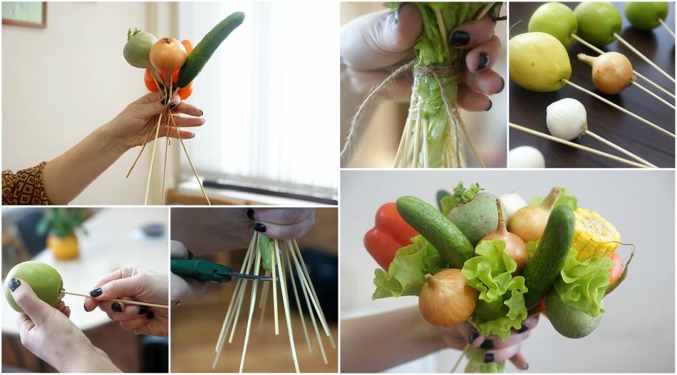 Букет из овощей-мастер-класс
